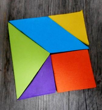 image from Five-piece tangrams